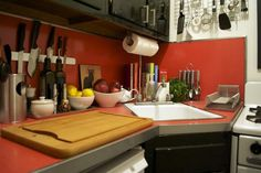 Upper East Side Apt Kitchen via Apartment Therapy #kitchen