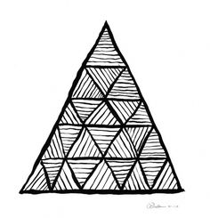 Dan Bina, Mariasha's Pyramid #abstract #ink #bina #drawing #dan #art #triangles #paper