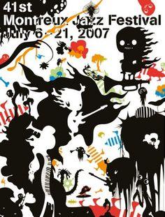 montreux2007.jpg (JPEG Image, 450x594 pixels) #jazz #illustration #poster