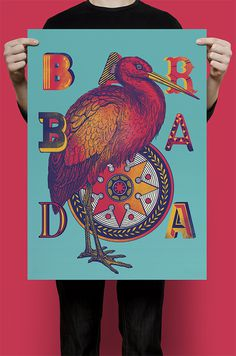 BARBADA on Behance #partt #lettering #pink #bird #vintage #poster #typography
