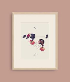 Pig & Scissors. Digital Art Collage A3 format Alex Lorenzo ©2016