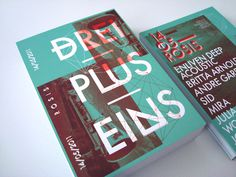 DREI PLUS EINS / Flyer on Behance #cover #design
