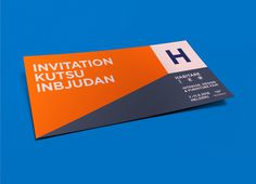 Habitare invitation #graphicdesign #design #color #bright #print #invite #identity