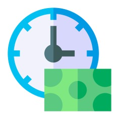 See more icon inspiration related to clock, time and date, business and finance, Tools and utensils, banknote, bill, watch, money, tool and time on Flaticon.