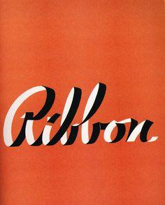 Ribbon #ribbon #lettering #vintage