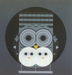 Owls - Charley Harper #charley #illustration #harper #owls