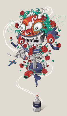 El hombre y el maguey by Julian Ardila #poster #illustration #editorial #branding