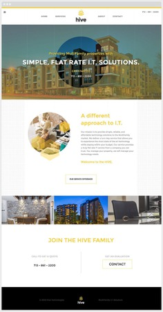 Hive Technology Website Sample #website #webdesign #design #houston