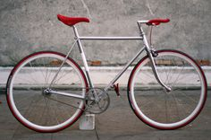 Scatto fisso Biascagne #red #bicycle #fixed #silver #gear #bike