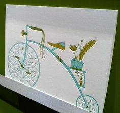 Google Reader (33) #illustration #letterpress #bicycle