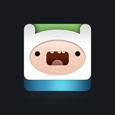 http://evilevich.tumblr.com Finn The Human by aparaats #icon #face #the #human #time #adventure #finn