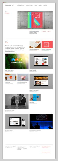 Standing By Company #website #layout #design #web