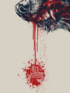 Game Of Thrones Red Wedding Illustration #blood #wolf #game thrones