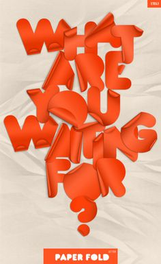Typeverything.com Paper Fold Font #type