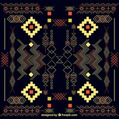 #background #free #vector #tribal #aztec #color