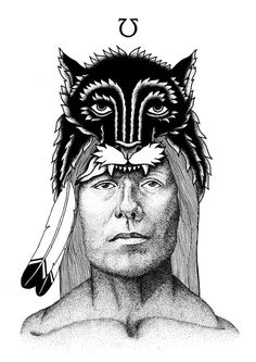 All sizes | Black wolf | Flickr Photo Sharing! #orka #illustration #indian #abo #olow