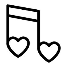 See more icon inspiration related to music, heart, love and romance, music and multimedia, romantic music, valentines day, music player, romantic, quaver, musical note, song and hearts on Flaticon.