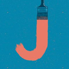 J - Heymikel #illustration #typographie #letters #heymikel