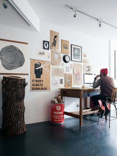 it won't always grow back. #interior #workspace