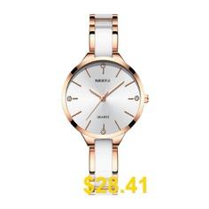 NIBOSI #2330 #fashion #Ladies #Watches #Simple #Ceramic #Female #Quartz #Watch #- #WARM #WHITE