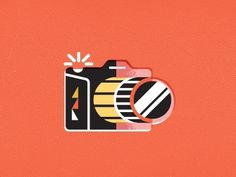 Dribbble - Camera by Javier Garcia #icon #illustration #film