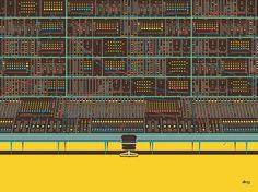 ISO50 Blog – The Blog of Scott Hansen (Tycho / ISO50) » The blog of Scott Hansen (aka ISO50 / Tycho) #panel #chair #button #wires #illustration