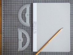 Present&Correct - Fabric Bound Notebook #stationary #desk #notebook #pencil #grey