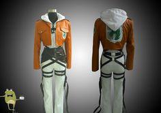 Shingeki no Kyojin Annie Leonhardt Cosplay Costume + Wig #leonhardt #costume #annie #cosplay