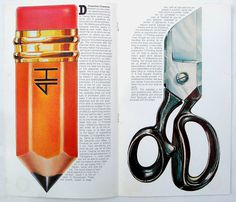 Past Print #assistance #scissors #spread #service #pencil #magazine