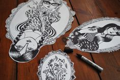 #streetart #sticker #retro #pen #drawing #illustration - work in progress by Magic Suitcase