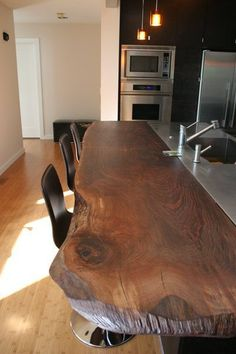 Live Edge Wood in the Kitchen | The Kitchn #wood #kitchen #tavolo