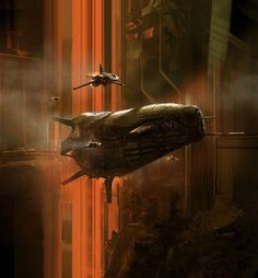 by Nicolas Bouvier #fantasy #futuristic #fi #sci #space #spaceship #illustration