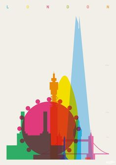 Shapes of Cities : Yoni Alter #overprinting #yoni #cities #alter #illustration #skyline