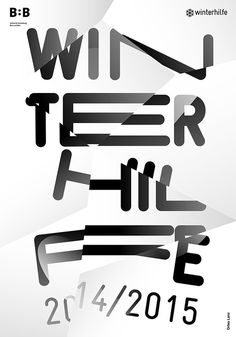 WINTERHILFE EXHIBITION POSTER on Behance by orfeo lanz #lanz #blackwhite #white #design #graphic #black #poster #and #orfeo