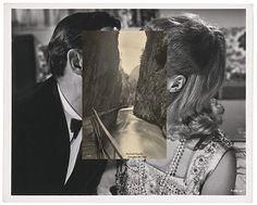 John Stezaker Pair IV The Approach #river #bw #sw #kiss