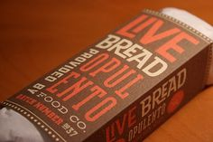 » NOBLE REAPINGat Beau Monroe #packaging #food #bread #typography