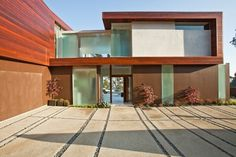 Project - Sunset Plaza Residence - Architizer - Empowering Architecture: architects, buildings, interior design, materials, jobs, competitions, design #driveway #concrete #modern #grid #architecture