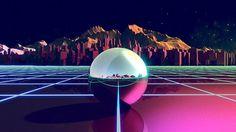 Fox Retro Birthday Id on the Behance Network #80s #pinball #reto #retrofuturistic #retro #futuristic