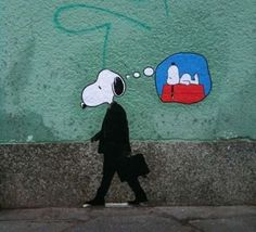 i'm not here #graffiti #political #illustration #snoopy