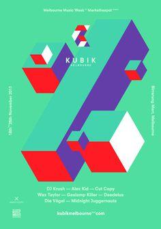 Kubik Melbourne v2a #graphic design #illustration #poster