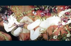 Hi-Fructose Volume 20 - Preview! #mazzoni #marco #painting #flowers