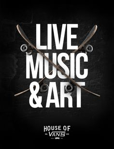 HOUSE OF VANS (Poster Series) on Behance #vans #poster #typography