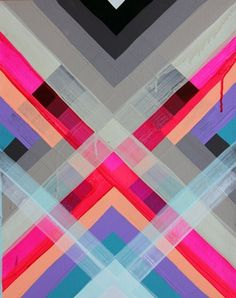 layers and color #maya #geometric #hayuk #art