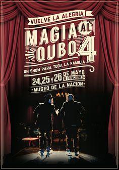 Magia al Qubo #magic #show #poster #peru #typography
