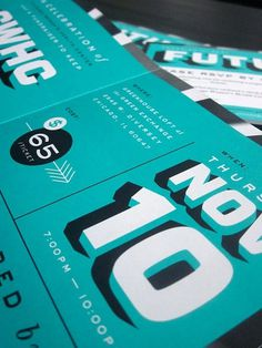 Print design inspiration | From up North #print #type #teal