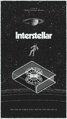 Poster by Michael George Haddad #inspiration #design #print #poster #creative #movie #film #interstellar #unique #space