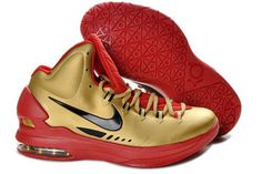 Zoom KD V Metallic Gold/Red Nike Mens Shoes #shoes