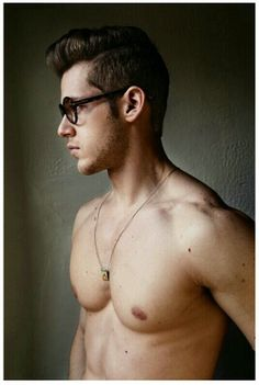 Pinterest #glasses #sexy #hot #portrait #men #torso #man #naked
