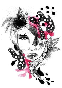 MATEUSZ SUDA #pink #illustrations #polak #polska #victim #artis #design #poland #logo #female #project #illustrator #sztu #moda #fashion #suda #mateusz #ilustracja #women #mateuszsudacom #art #artysta