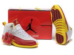 White Nike Air Shoes Hot Sale 12 Xii Mens New Red
